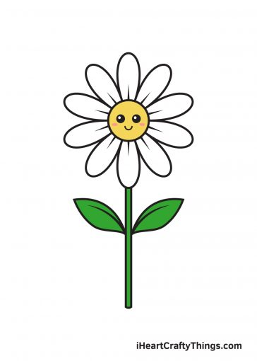 how to draw daisy image