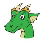how to draw dragon head image