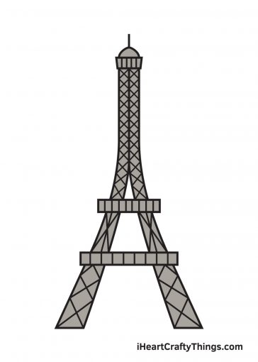 how to draw Eiffel Tower Image