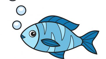 how to draw fish image
