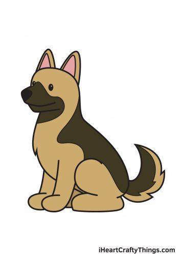how to draw German Shepherd image