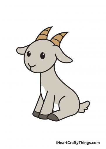 how to draw goat image