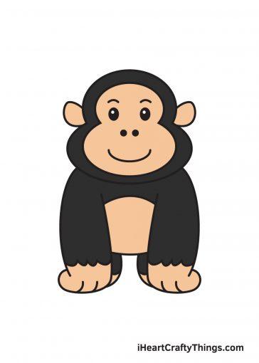 how to draw gorilla image