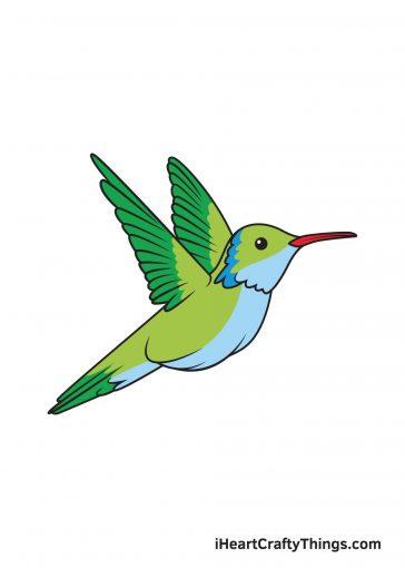 how to draw hummingbird image