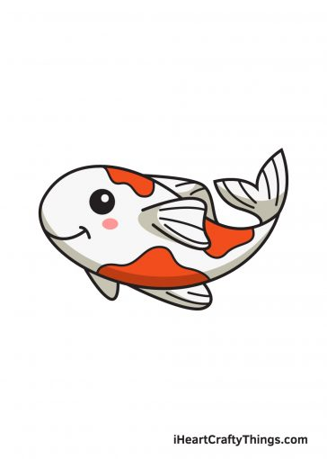 how to draw koi fish image