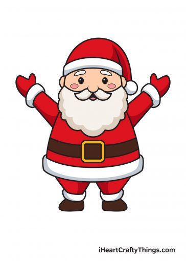 How to Draw Santa Claus Image