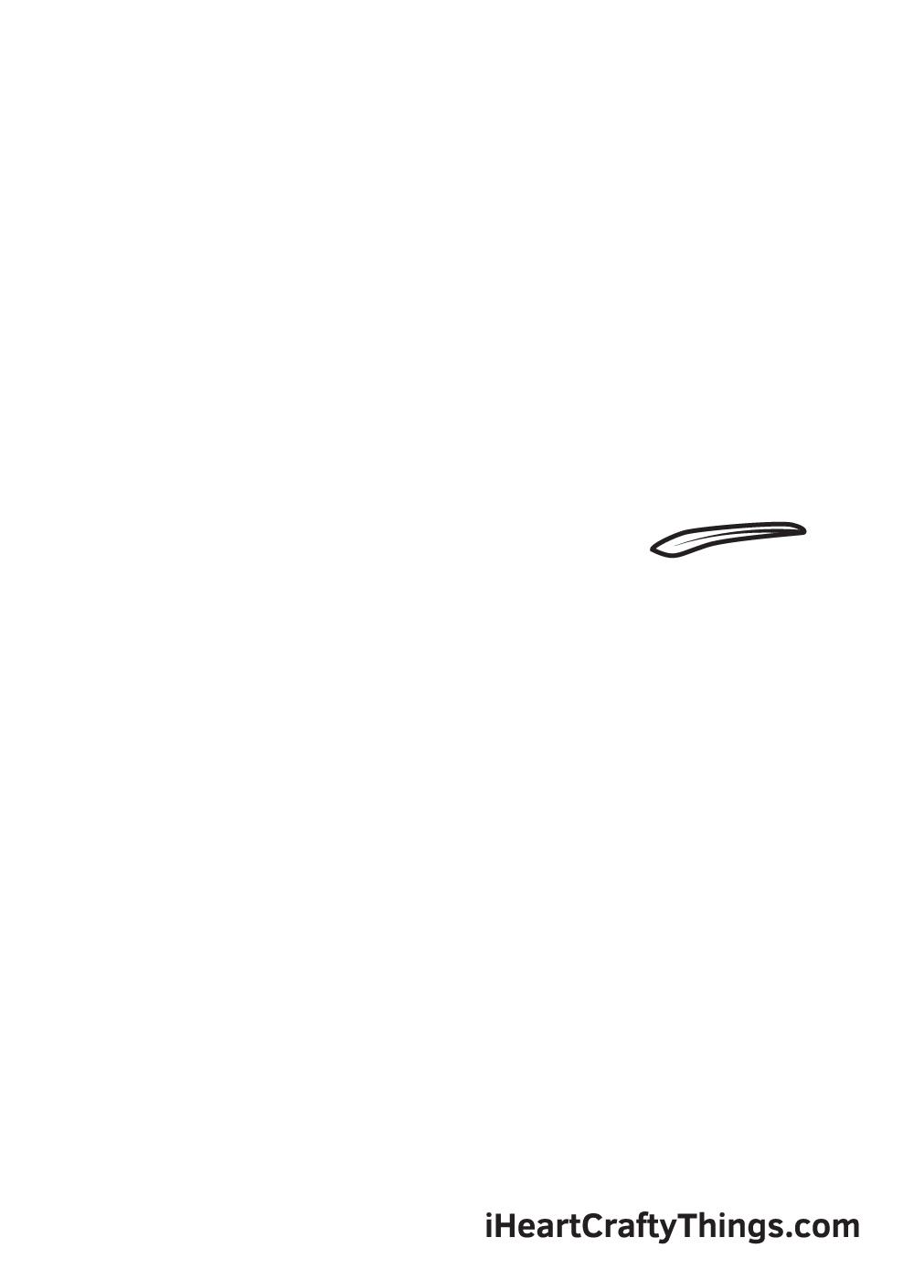 hummingbird drawing step 1