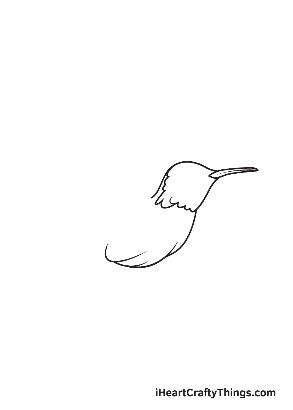 hummingbird drawing step 4