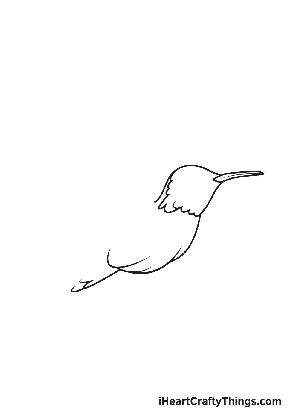 hummingbird drawing step 5