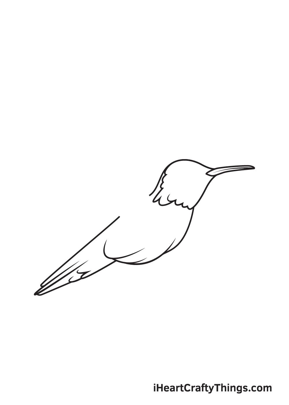 hummingbird drawing step 6