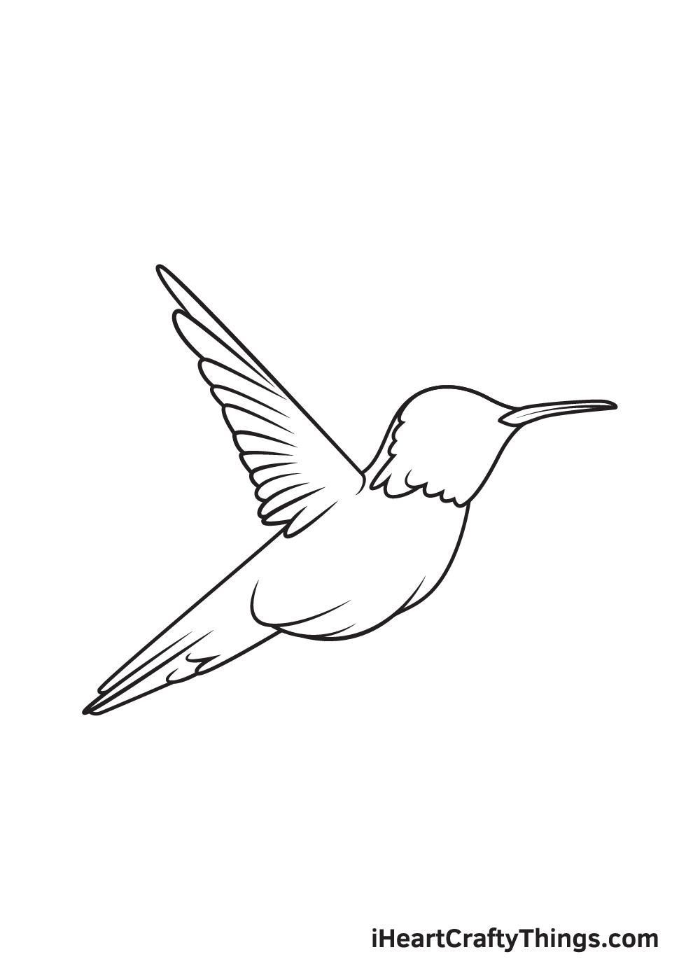 hummingbird drawing step 7