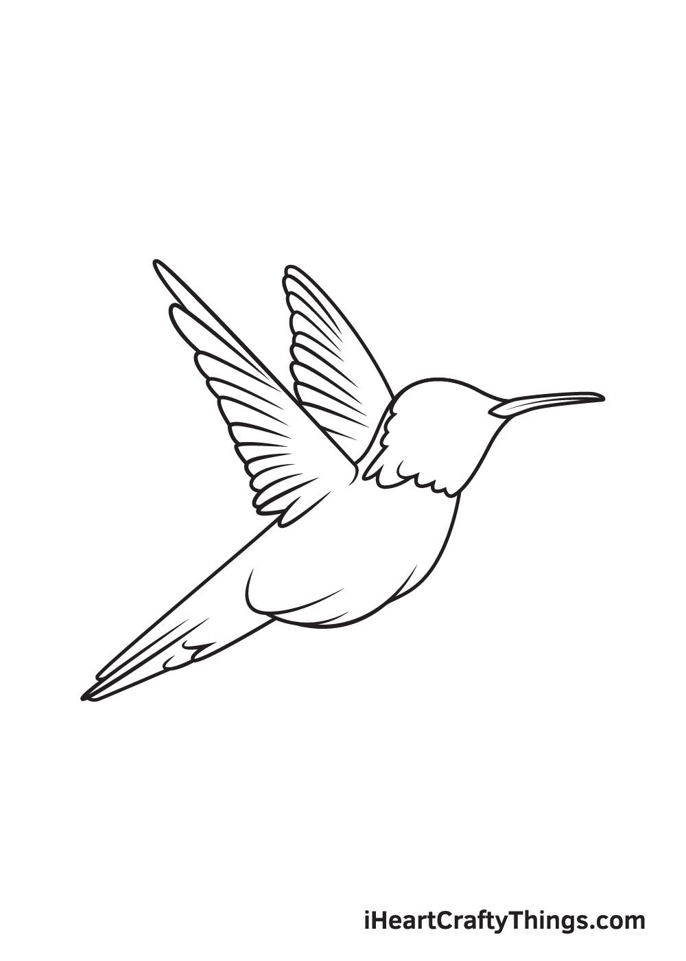 hummingbird drawing step 8