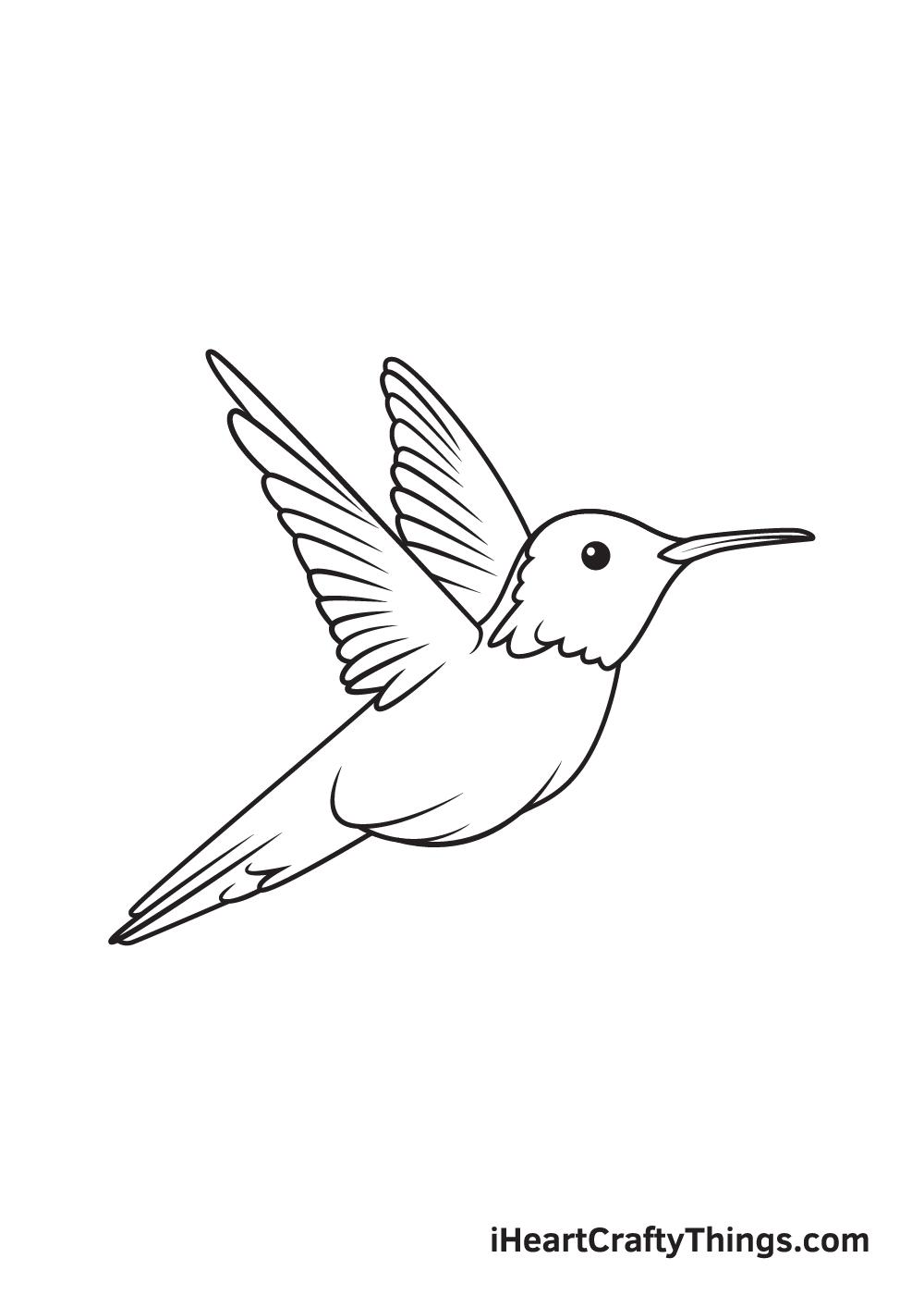 hummingbird drawing step 9