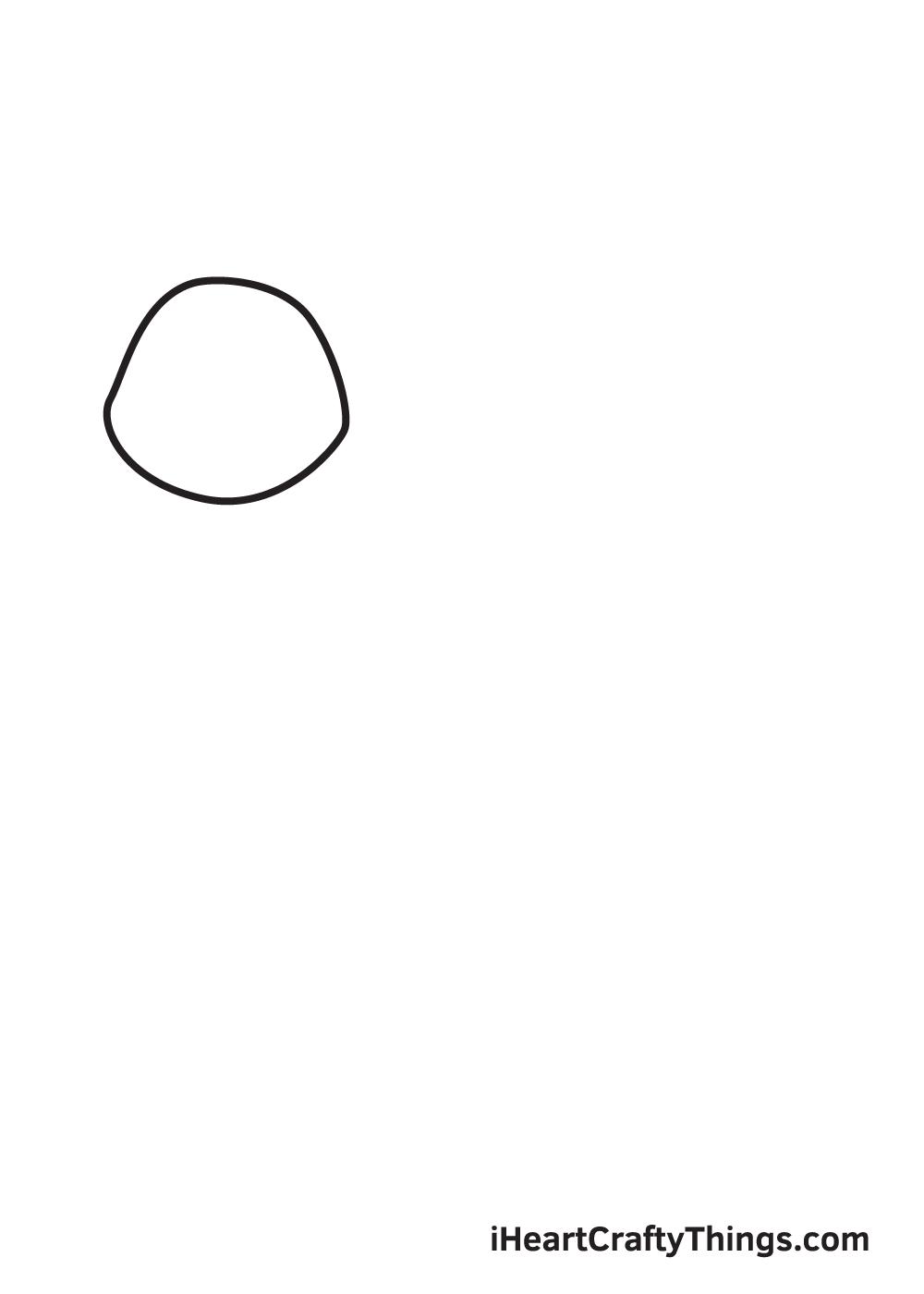 husky drawing step 1