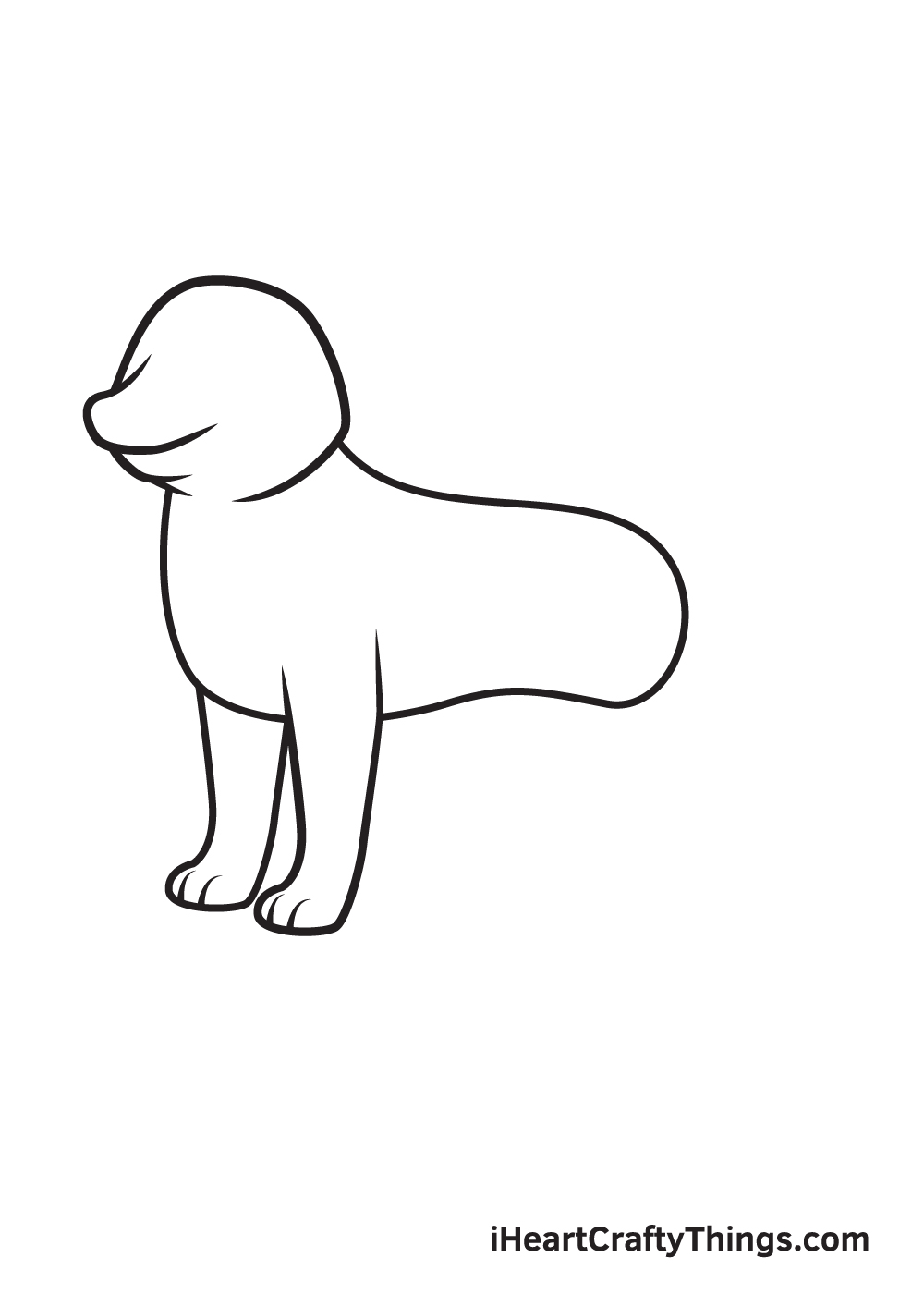 husky drawing step 4