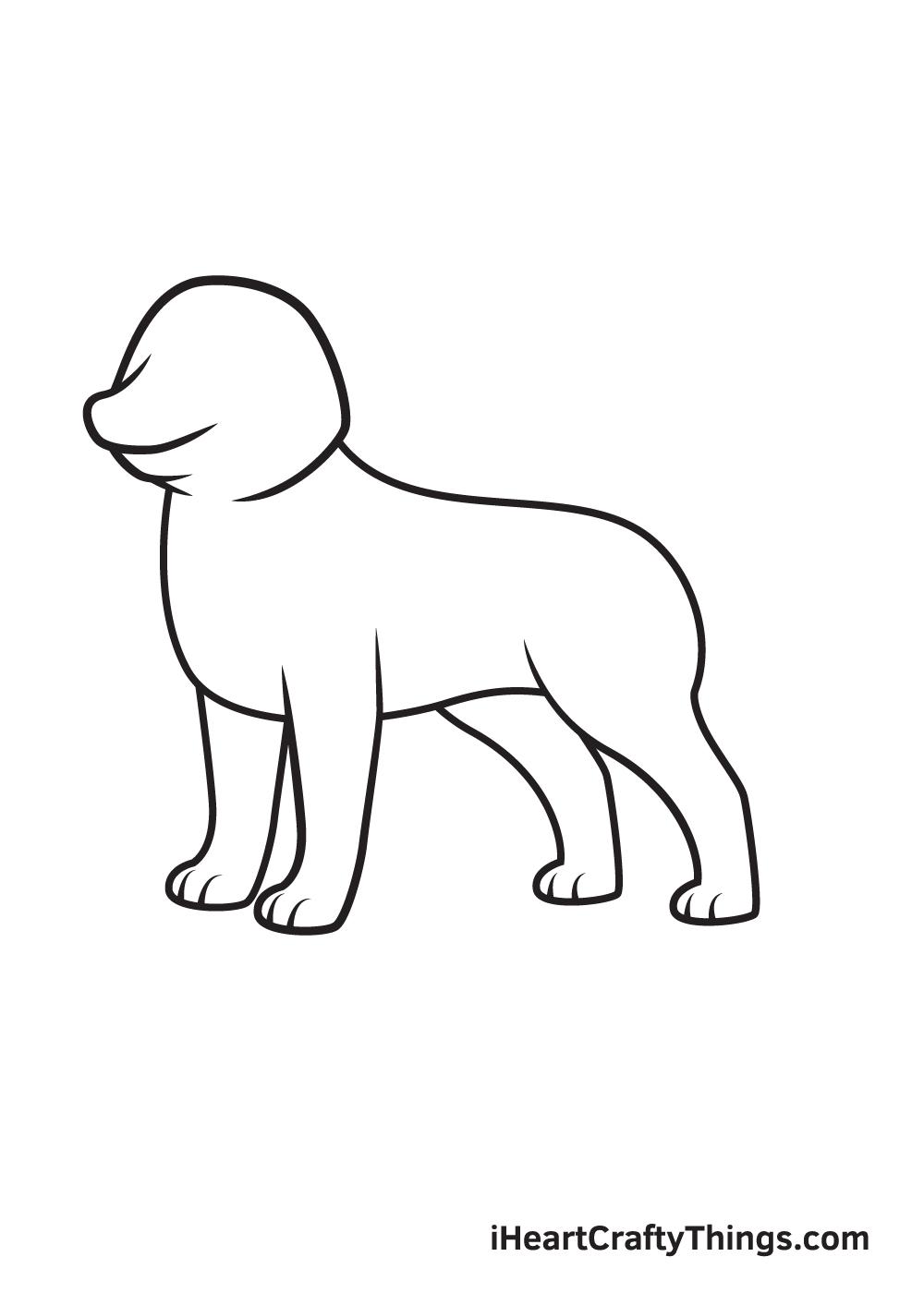 husky drawing step 5