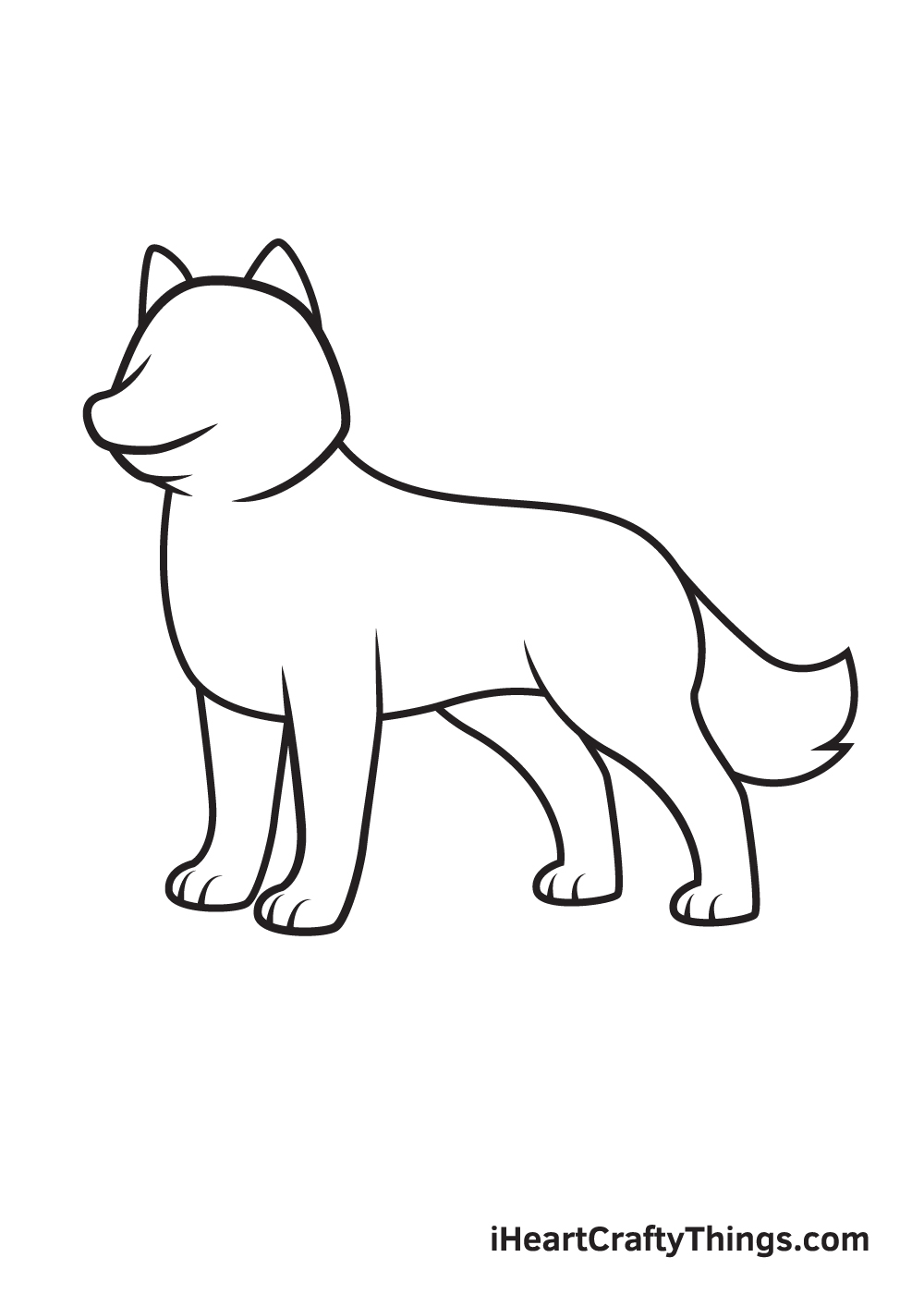 husky drawing step 7