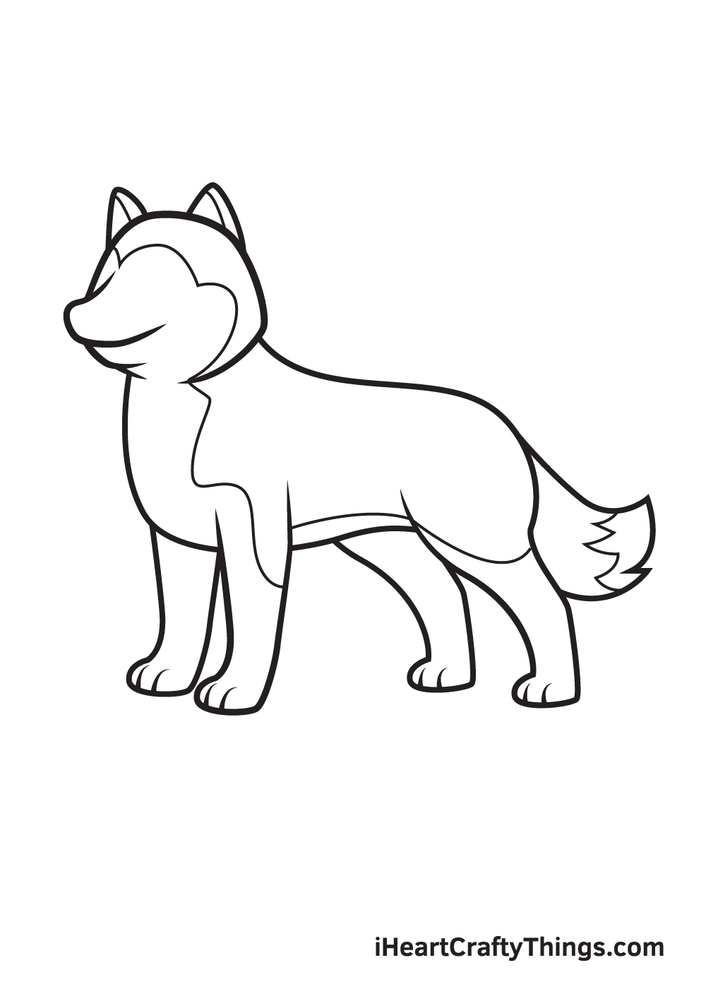 husky drawing step 8