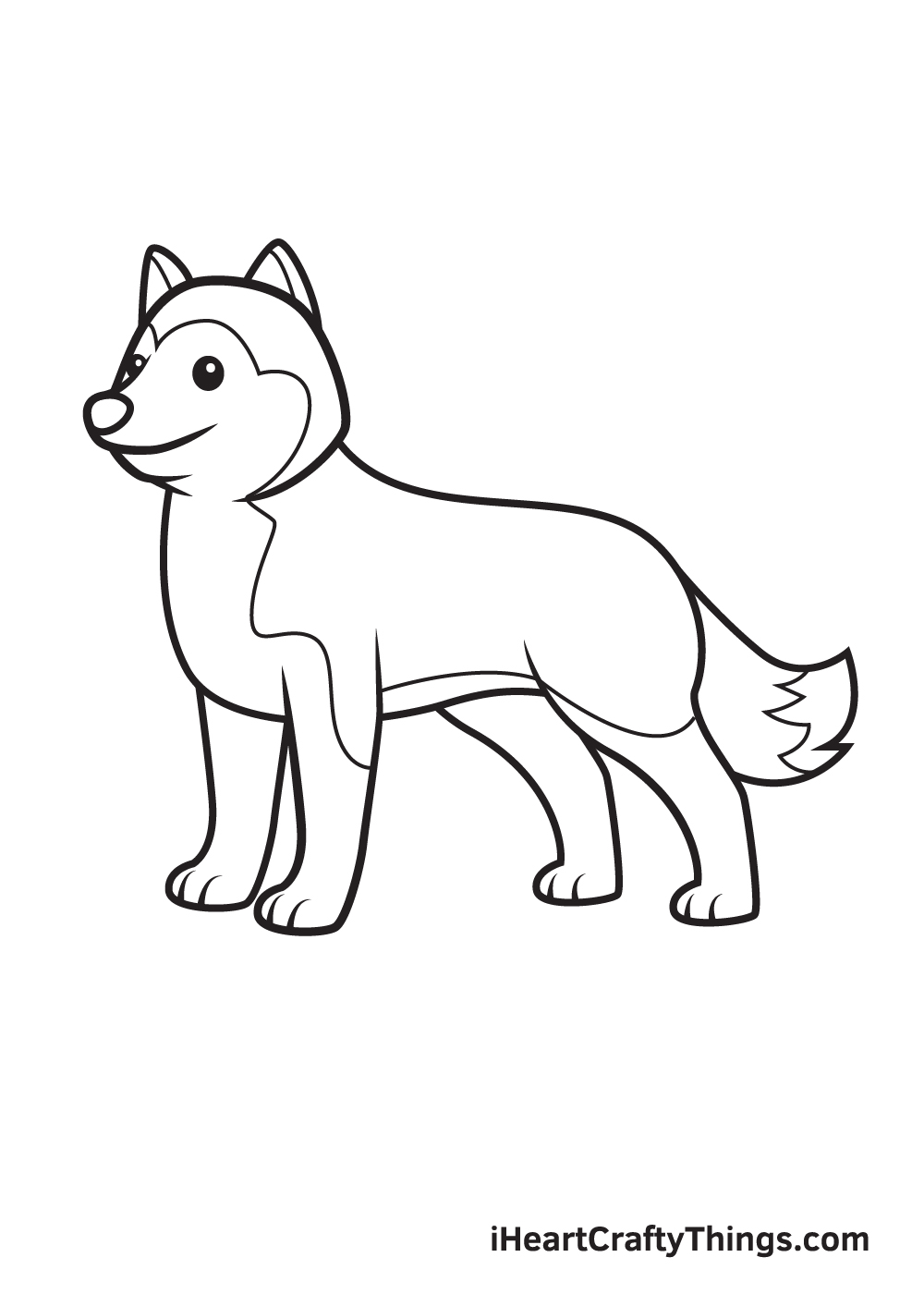 husky drawing step 9