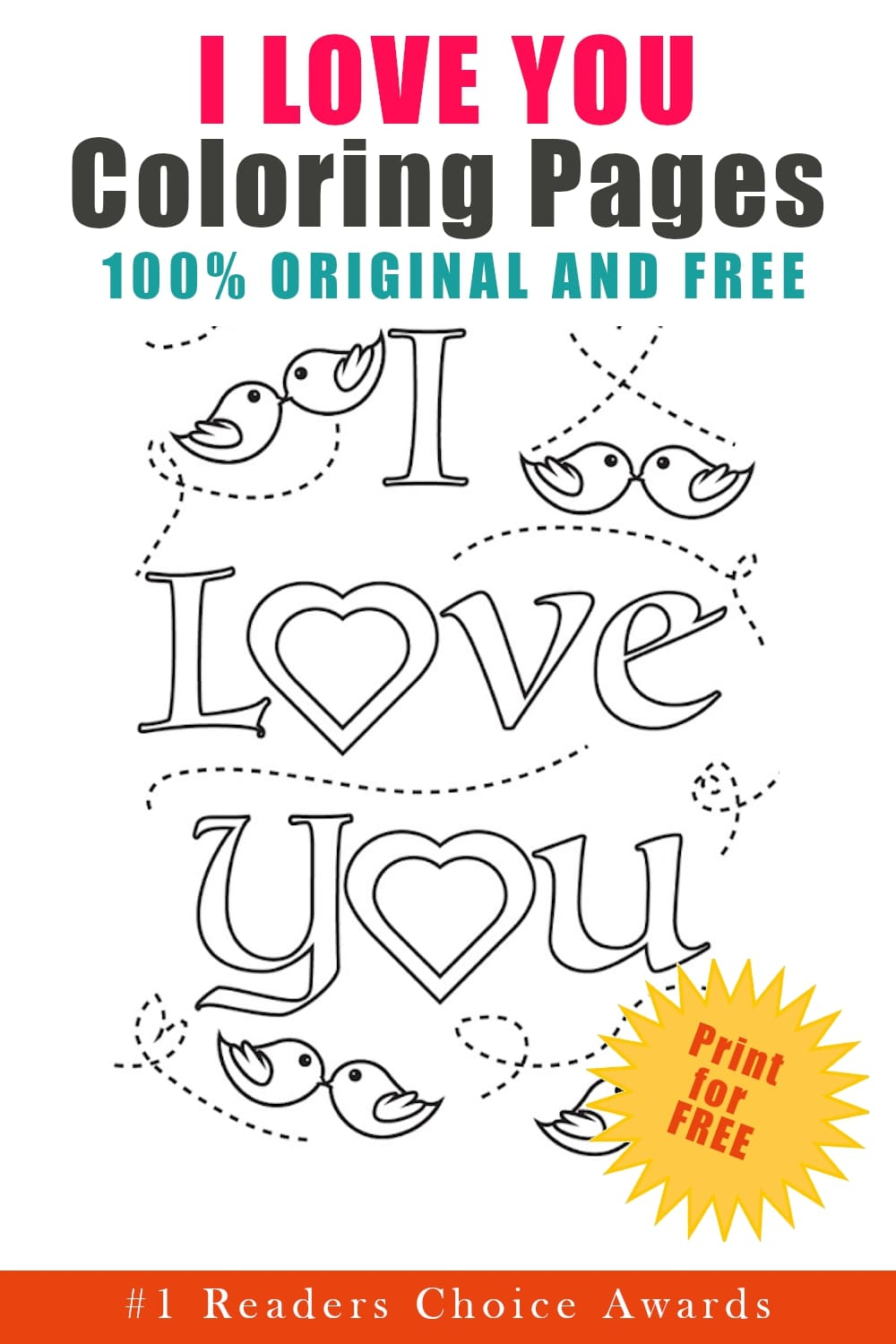 original and free I love you coloring pages free printable