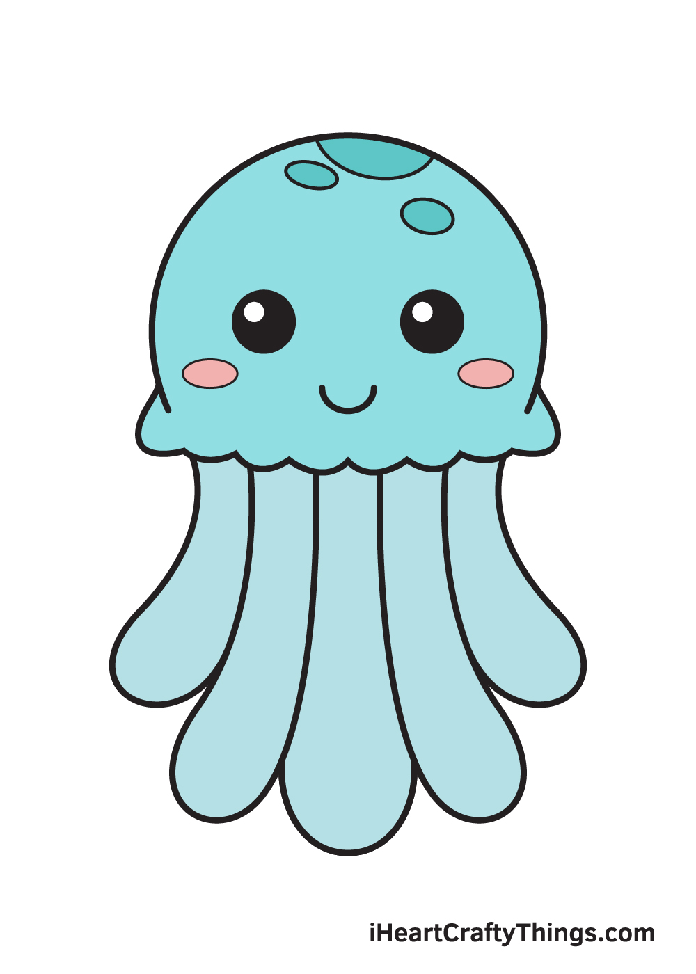 jellyfish drawing 9 steps