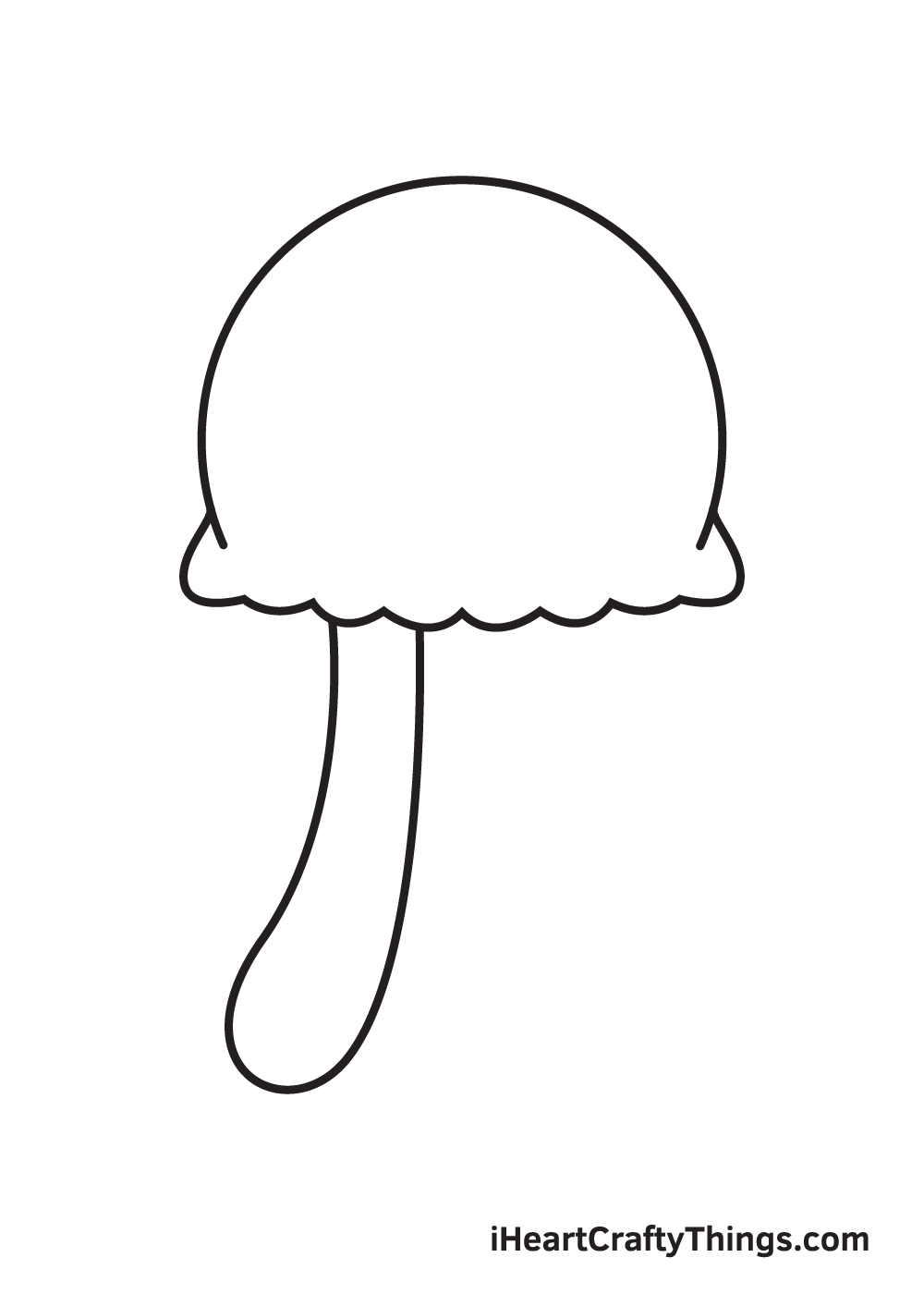 jellyfish drawing step 3