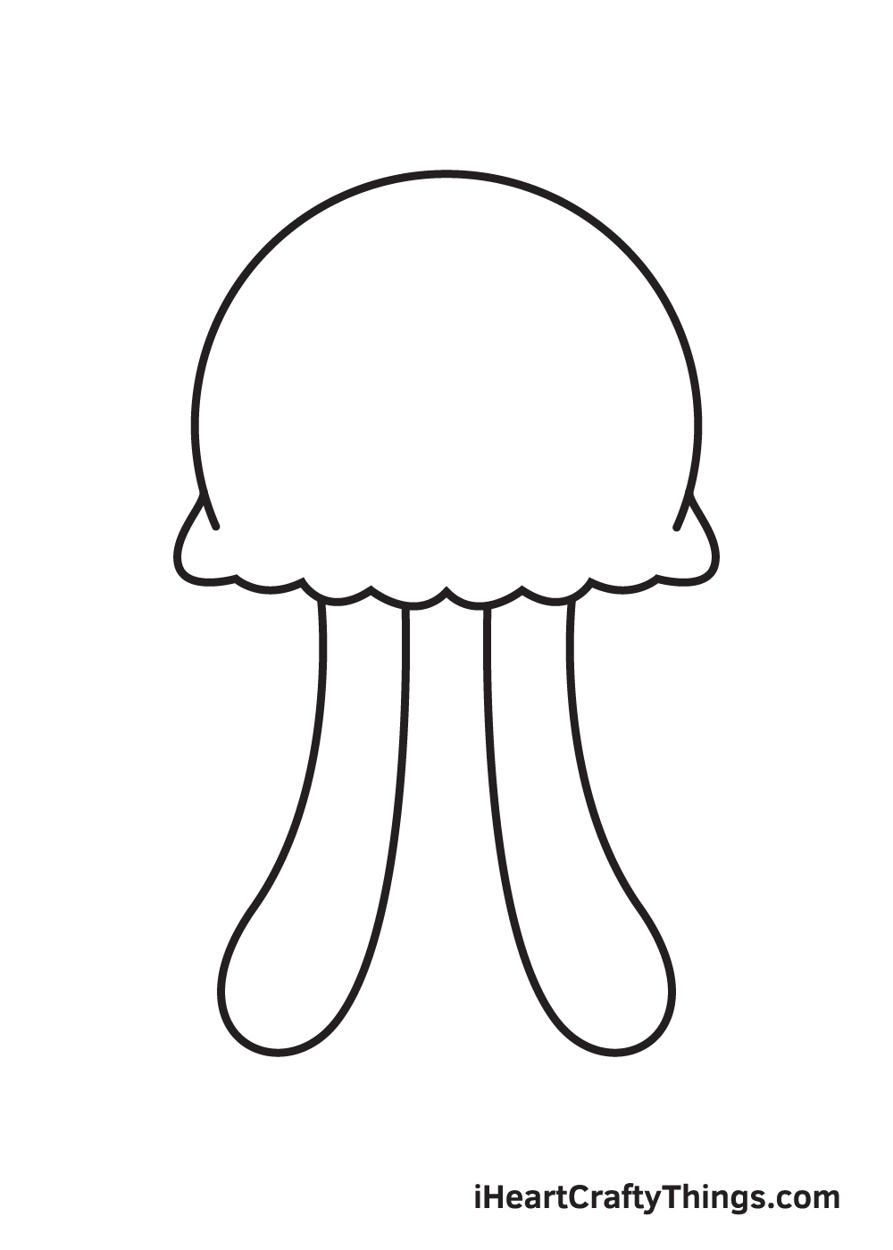 jellyfish drawing step 4