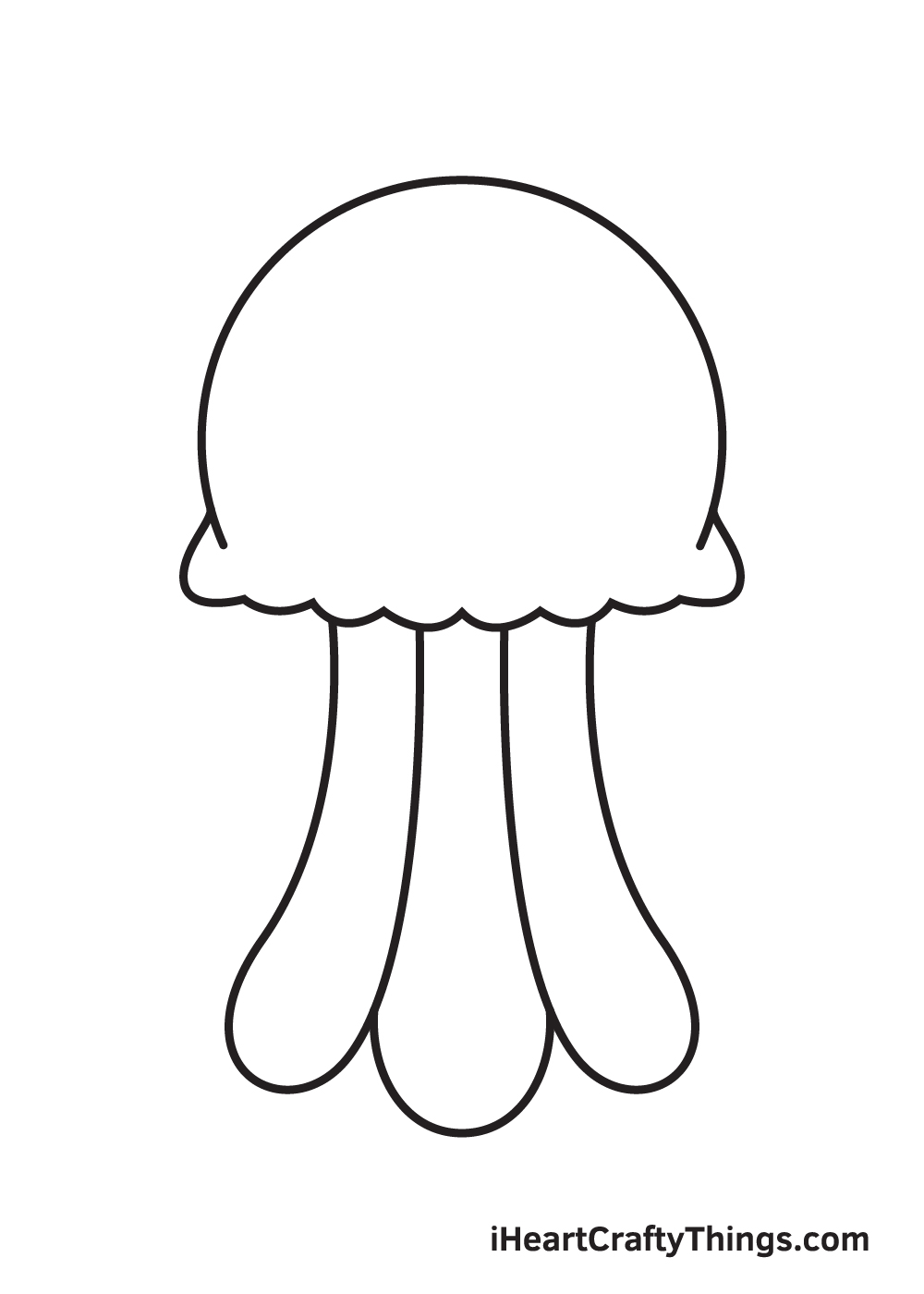 jellyfish drawing step 5
