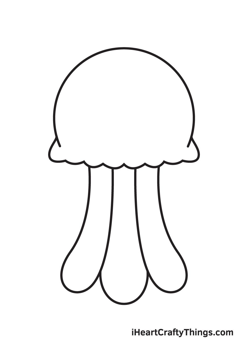 jellyfish drawing step 5