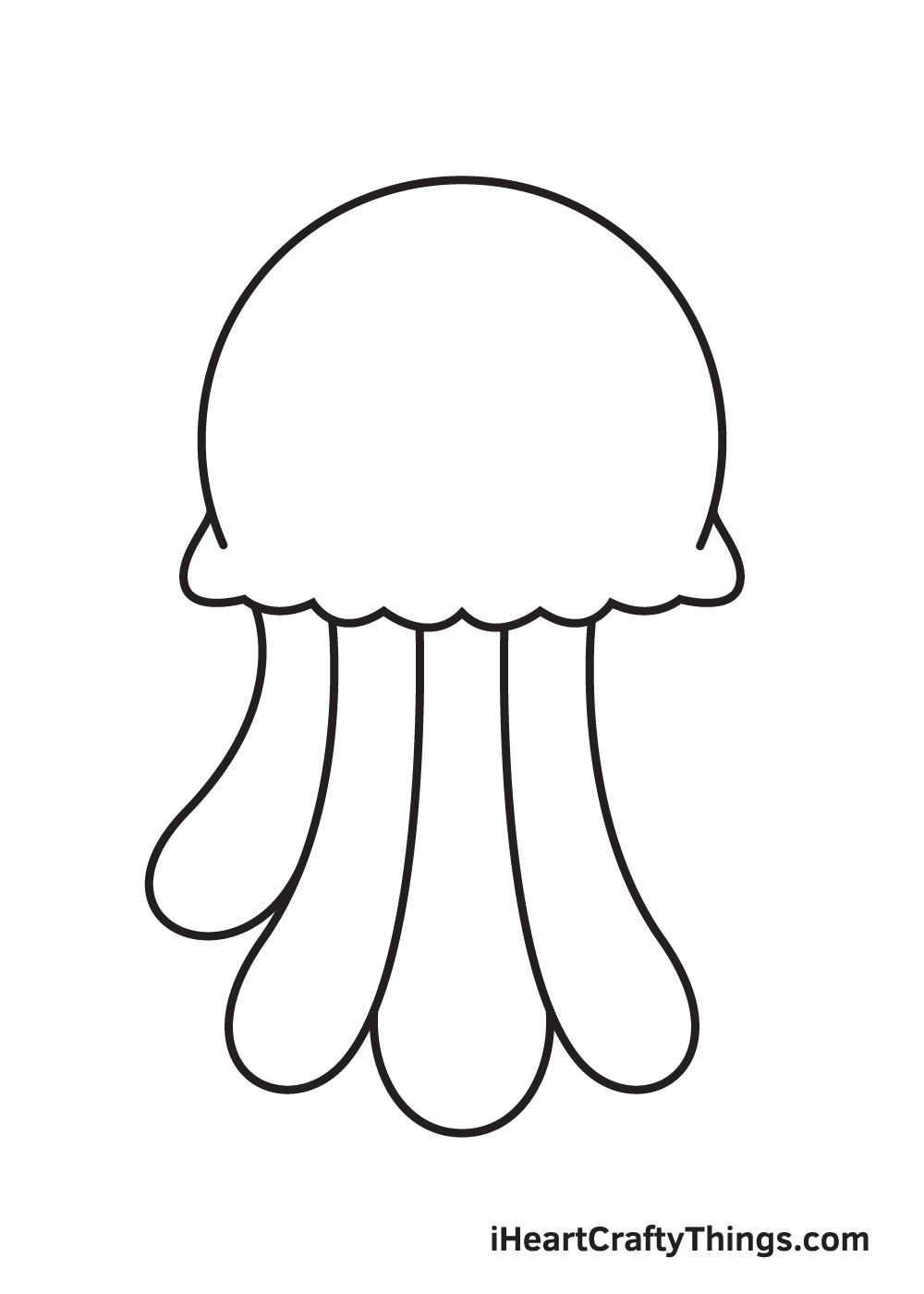 jellyfish drawing step 6