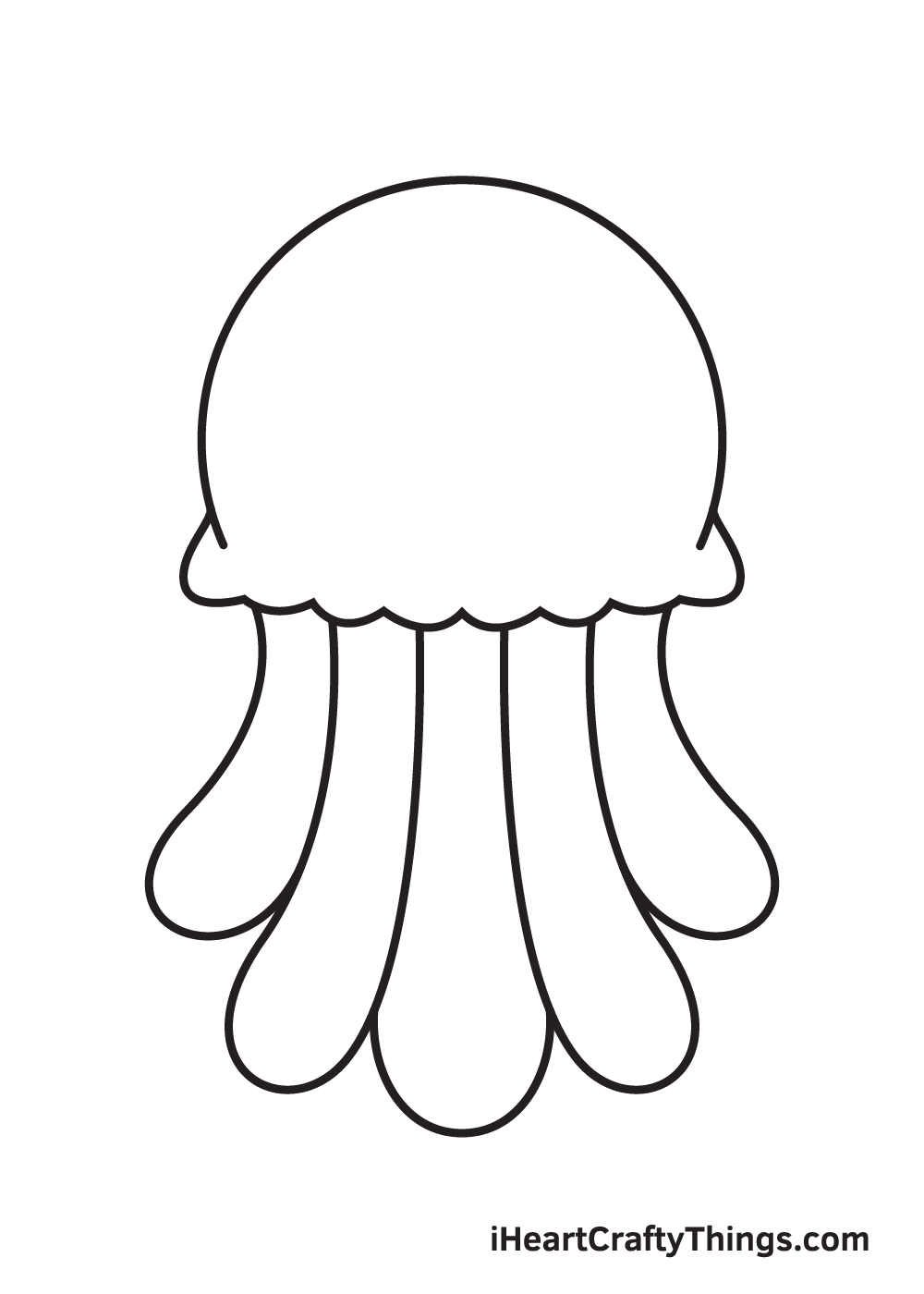 jellyfish drawing step 7