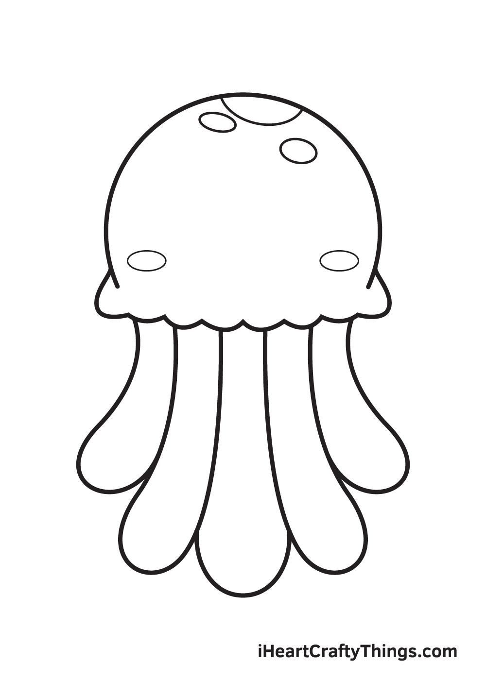 jellyfish drawing step 8