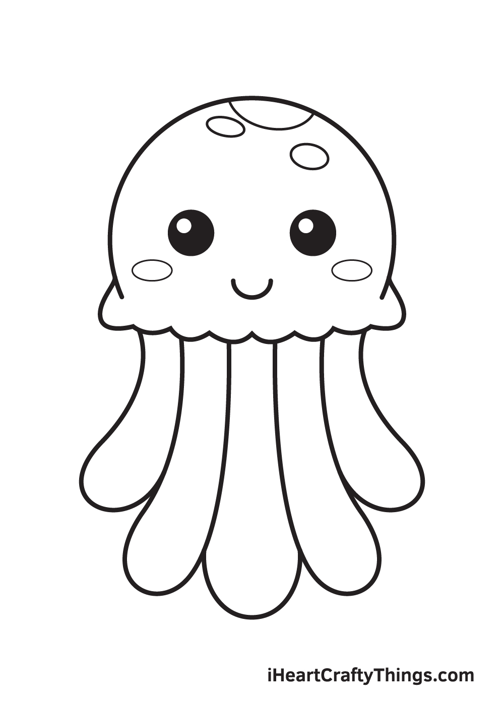 jellyfish drawing step 9