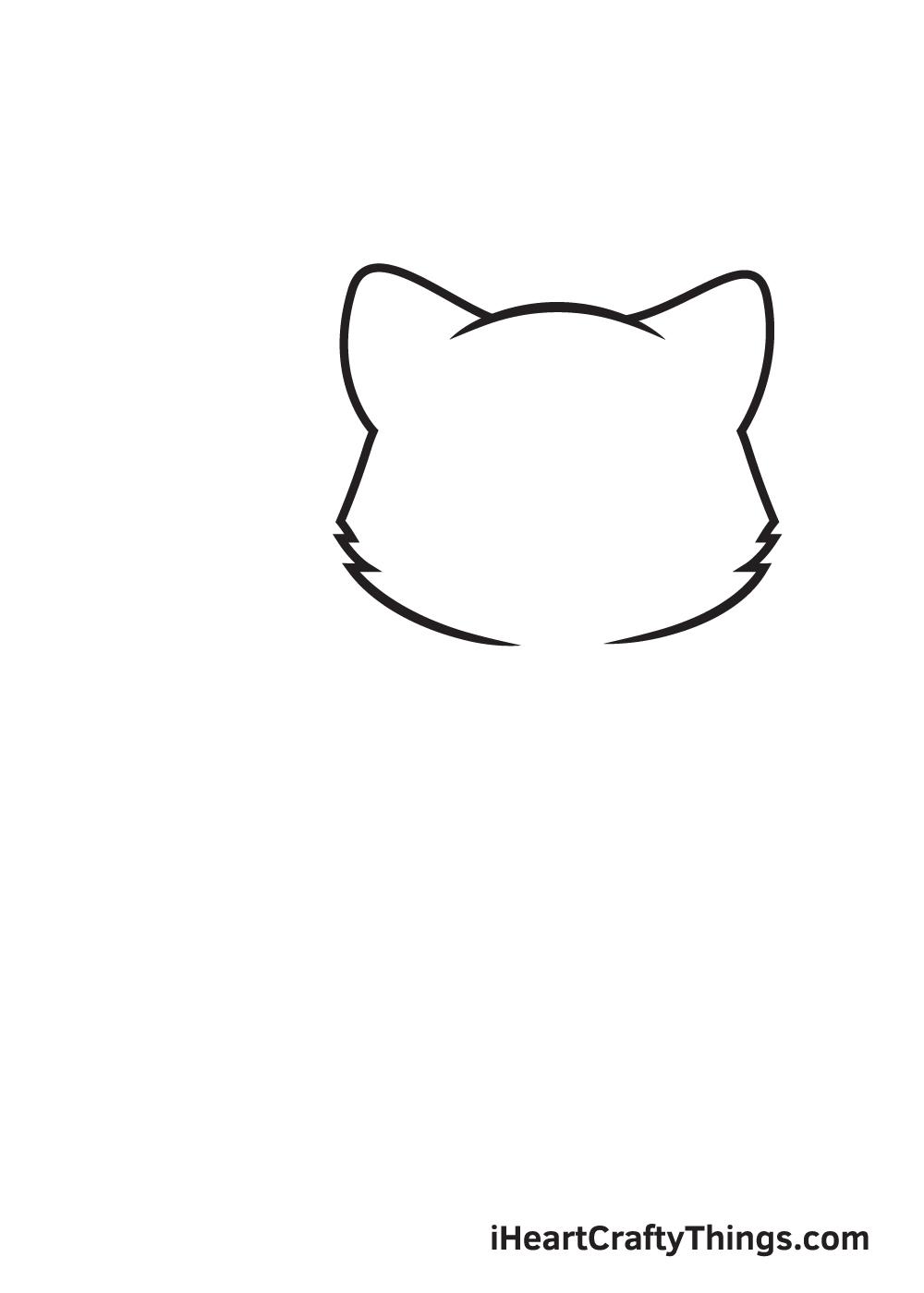 Kitten Drawing – Step 2