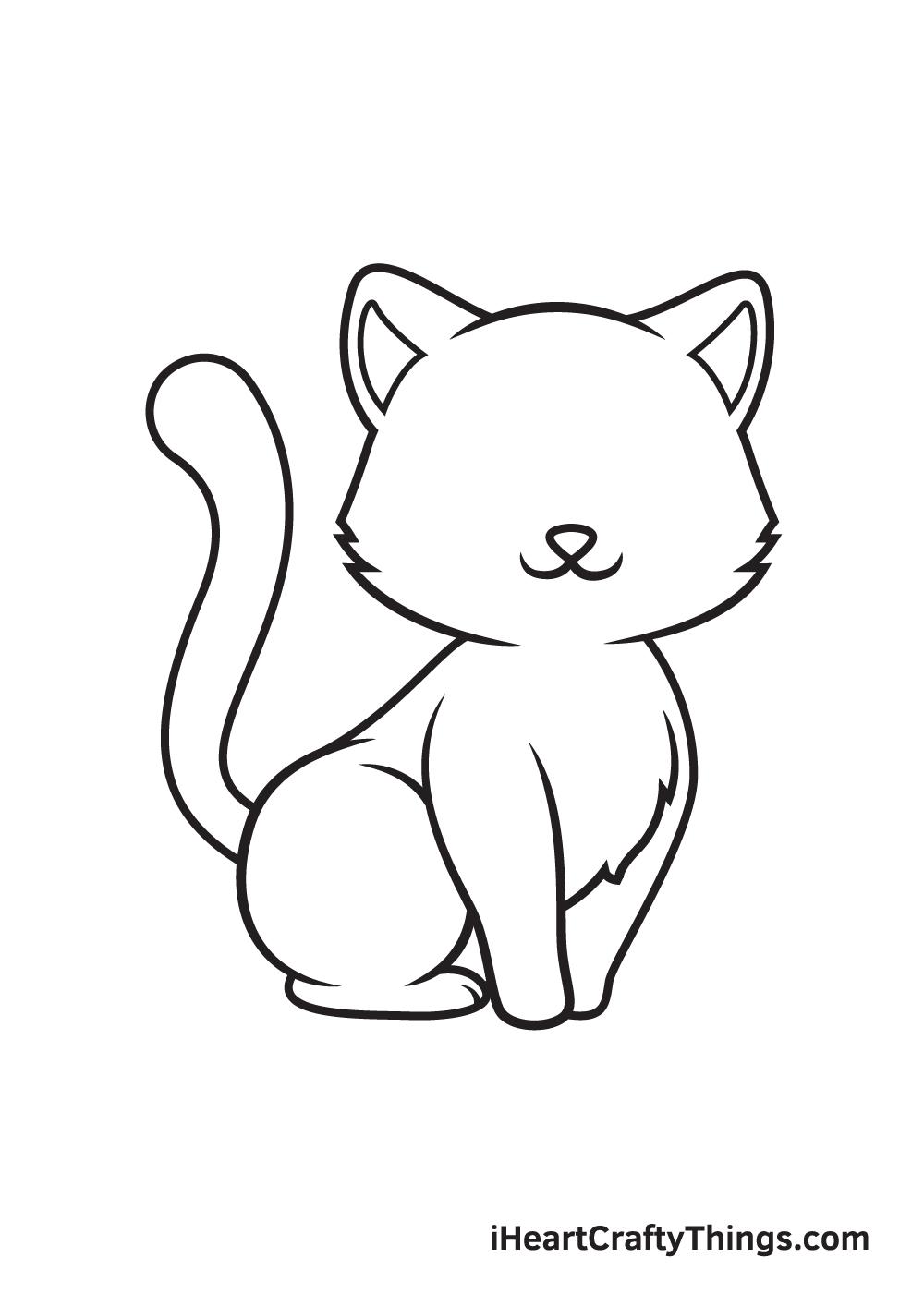 Kitten Drawing – Step 8
