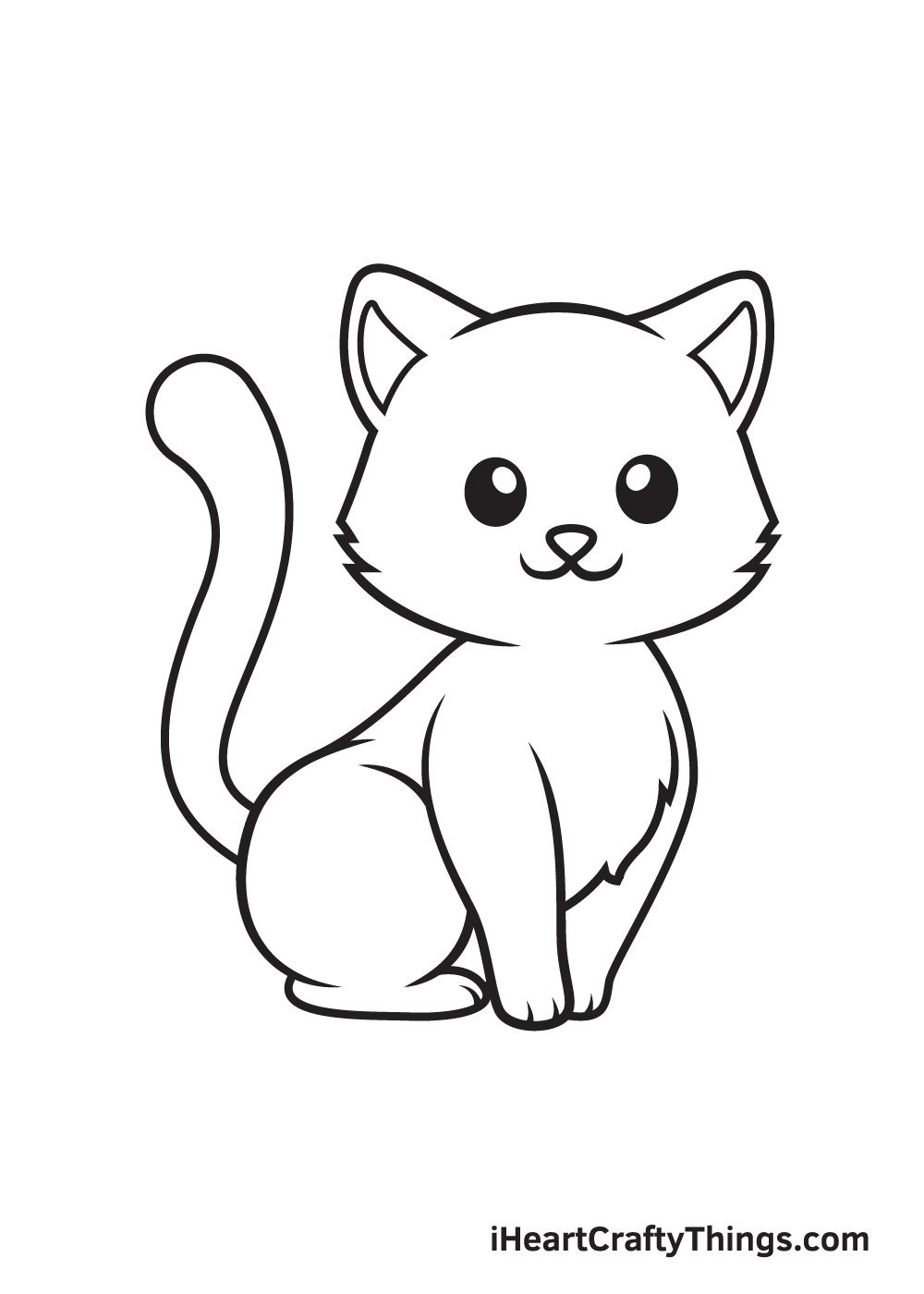 Kitten Drawing – Step 9