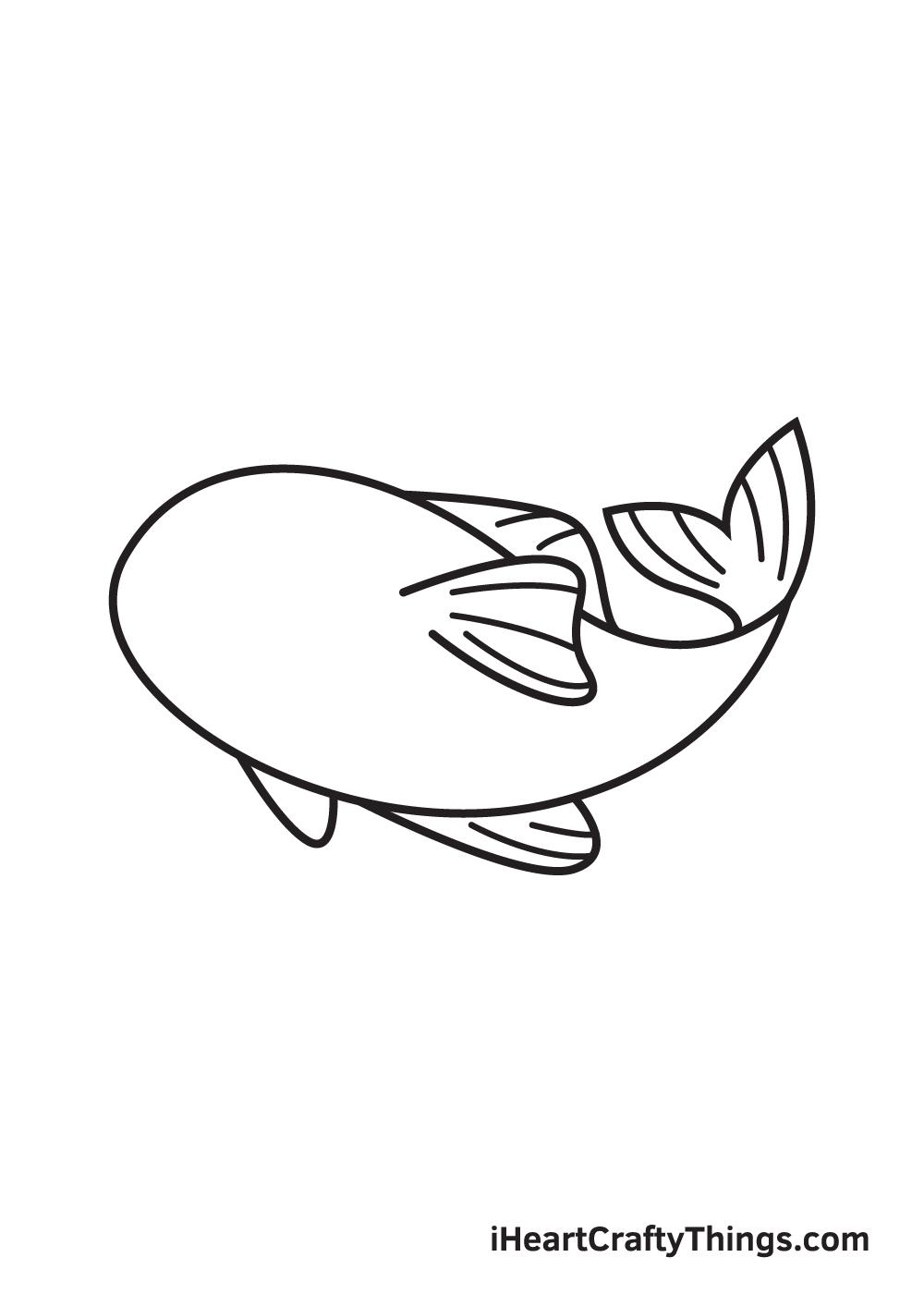 koi fish drawing step 6