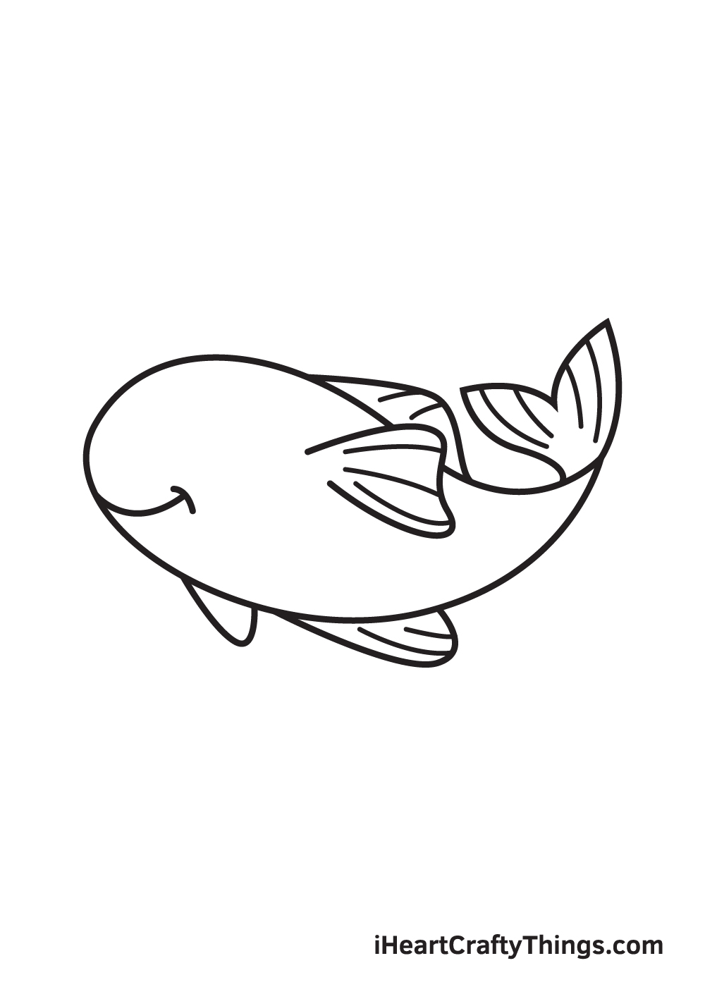 koi fish drawing step 7