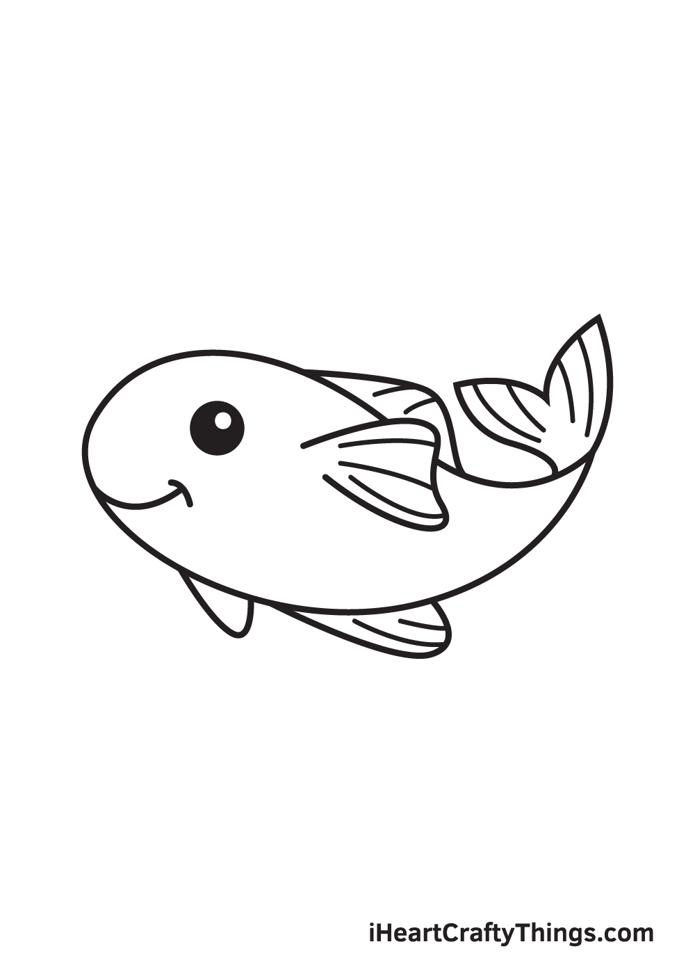 koi fish drawing step 8