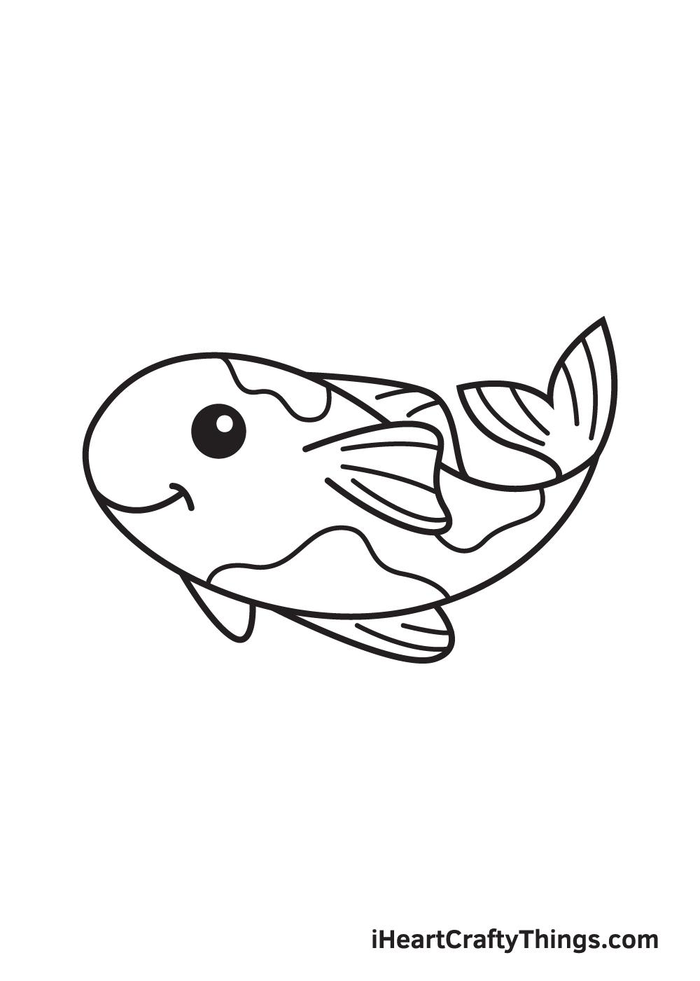 koi fish drawing step 9