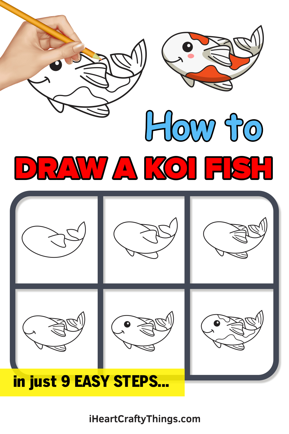how to draw a koi fish in 9 easy steps