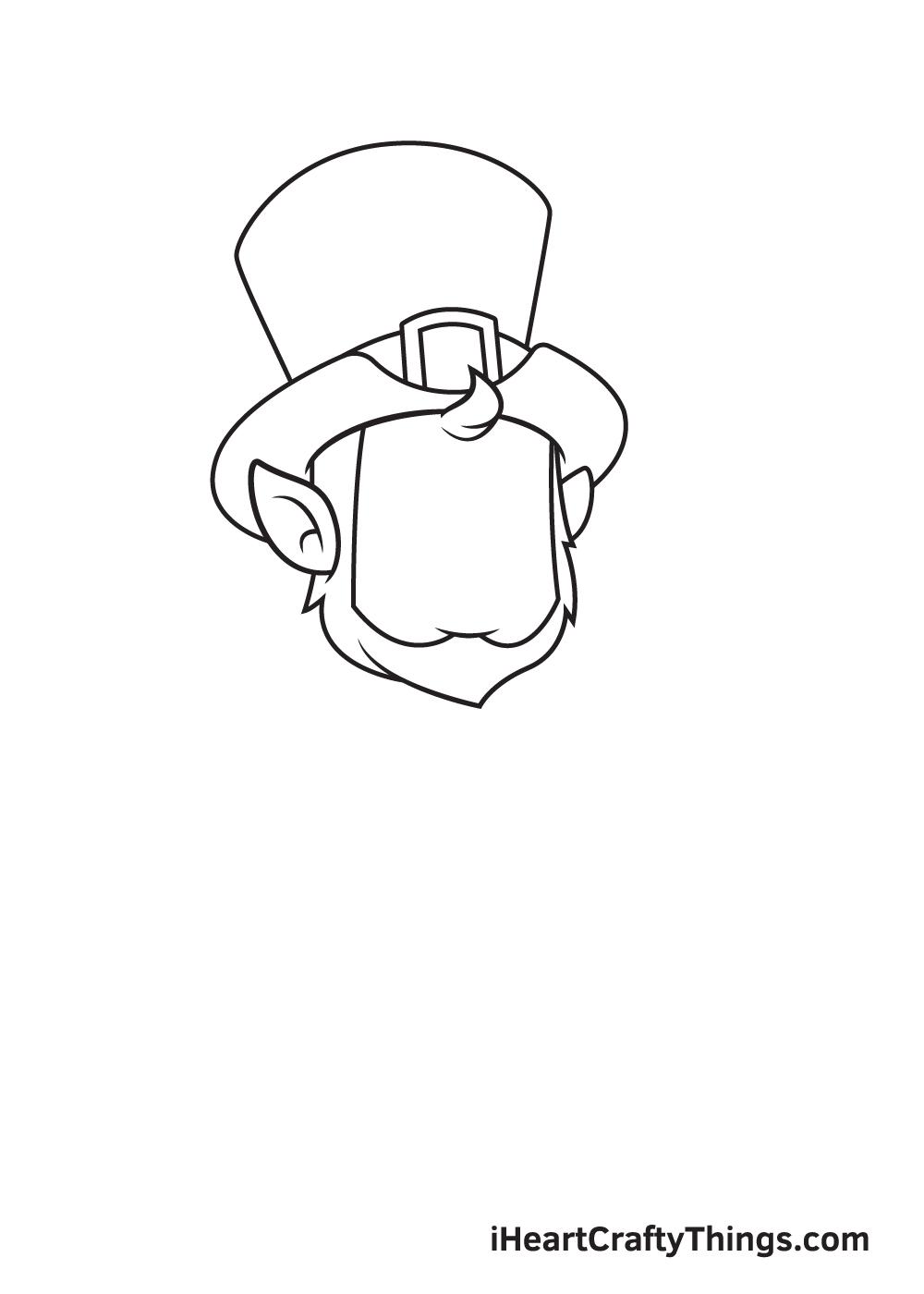 Leprechaun Drawing – Step 1