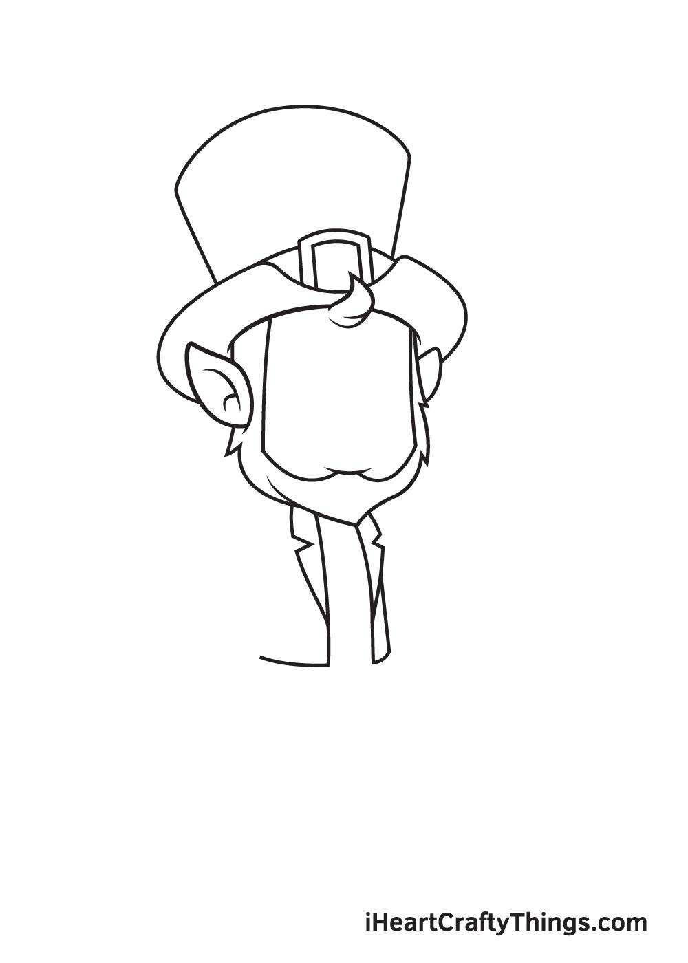 Leprechaun Drawing – Step 2