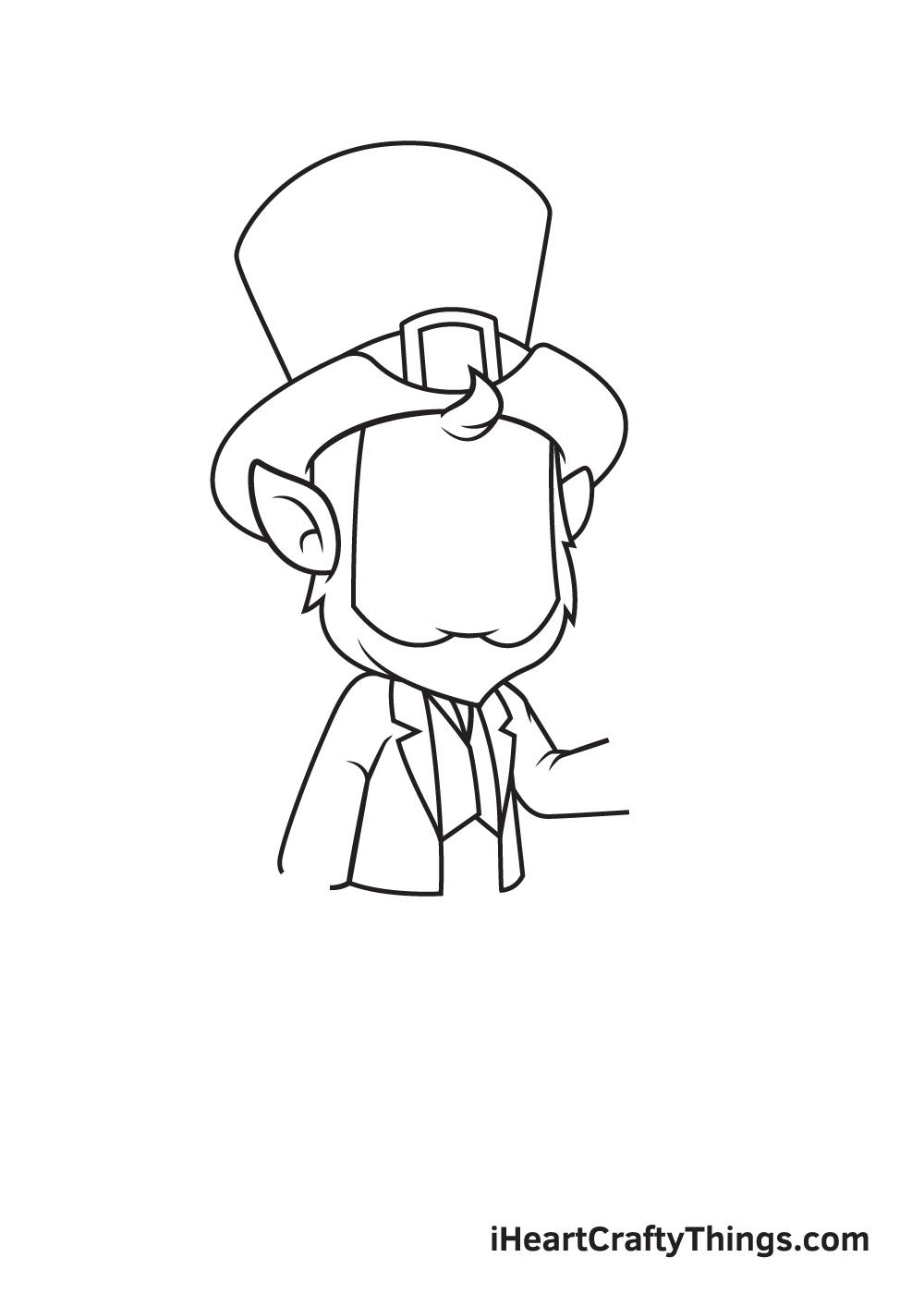 Leprechaun Drawing – Step 3