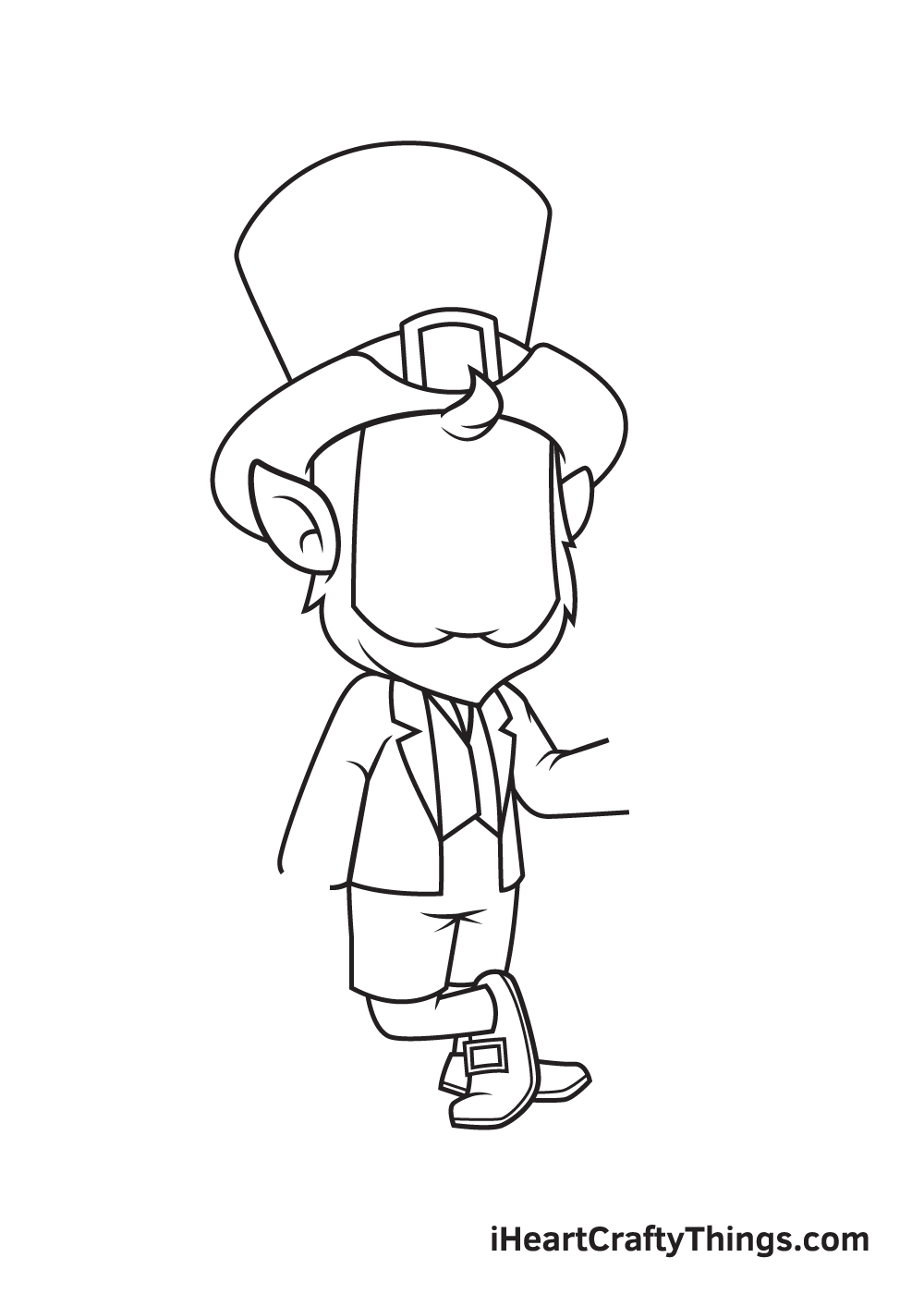 Leprechaun Drawing – Step 4