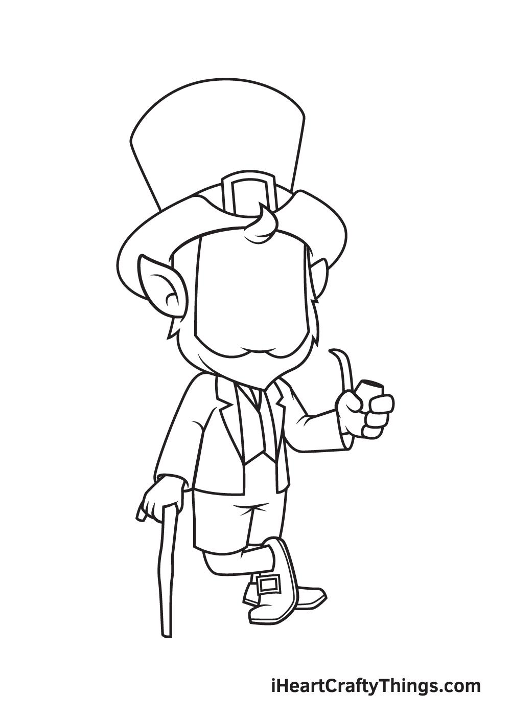 Leprechaun Drawing – Step 5