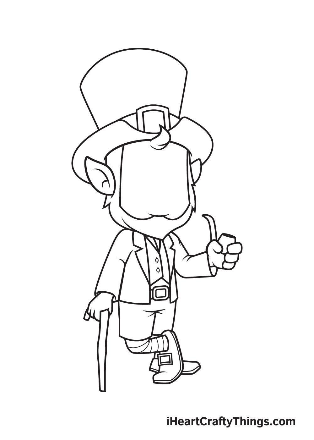 Leprechaun Drawing – Step 6