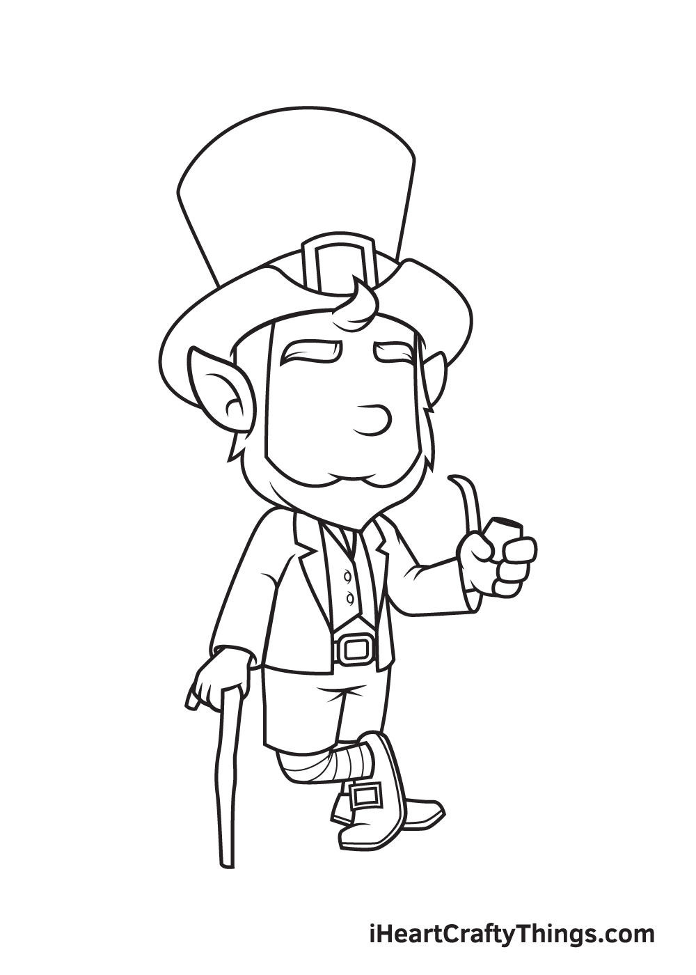 Leprechaun Drawing – Step 7