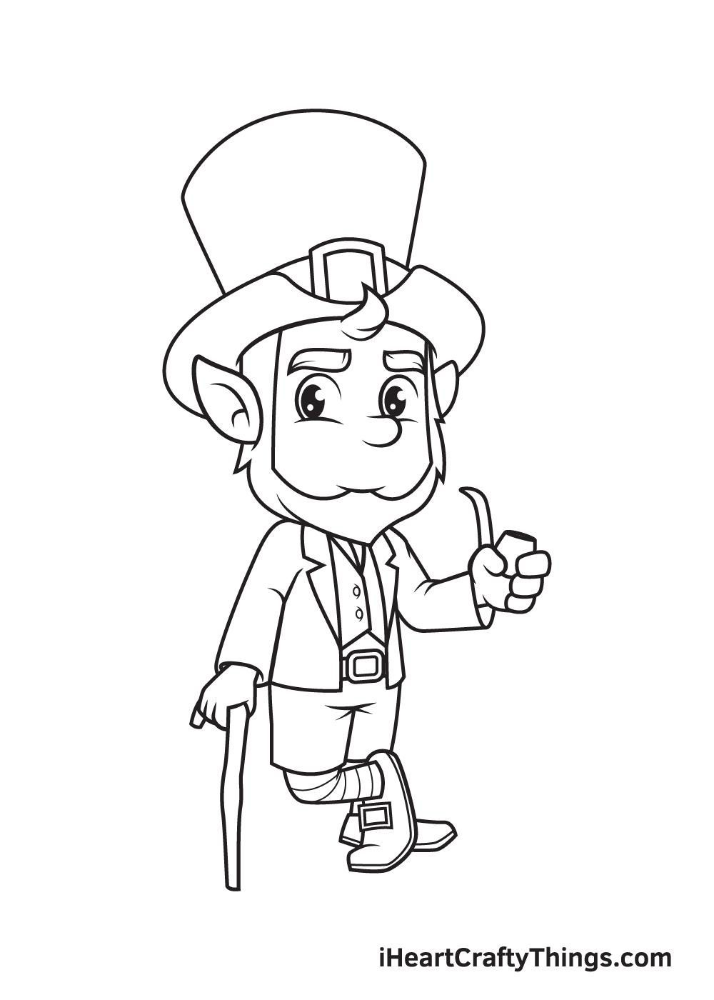 Leprechaun Drawing – Step 8