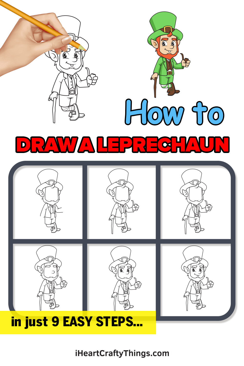 How to Draw a Leprechaun in 9 Easy Steps